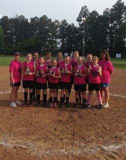 The 12U Glitter Hitters were league champs. They are Shelby Williamson, Kristen Boone, Emily Williamson, Lindsey Rucker, Haley Henson, Hanna Seward, Haleigh Jurcak, Alexandria French, Cassi Thompson, Courtney Linton and Taylor Halprin. Coaches are Hanya Williamson and Susan Boone.