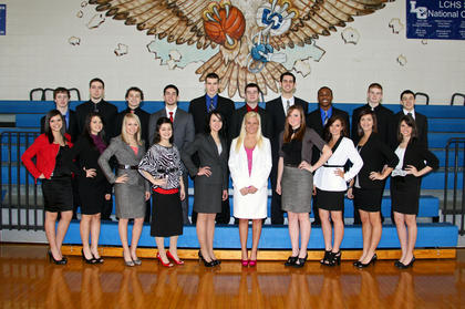 LaRue County High School Homecoming Court and escorts