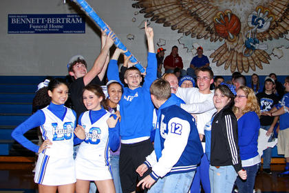 Senior and Junior classes shared the Spirit Stick Award.
