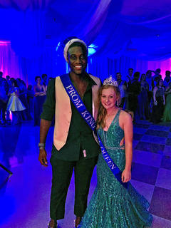 Prom King Anthony Adkins and Prom Queen Malerie Skaggs.