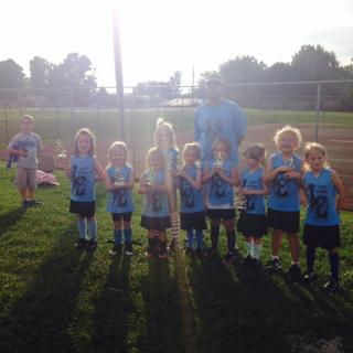The 6U Bluegrass Angels are Abigail Morgan, Brooklynn Skaggs, Brooke Thompson, Zoey Pellman,  Isabella Thompson, Olivia Bennett, Chloe Whitlow, Riley Willian, Macy Strange and Morgan Skaggs.  Coaches are Patrick Skaggs and Scotty Thompson.