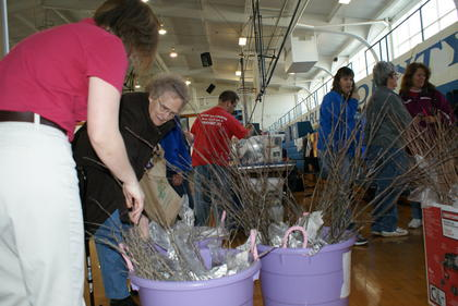 The Soil Conservation District office gave away about 1,200 trees.