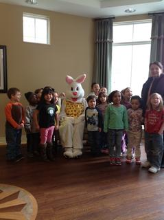 LaRue County Headstart had an Easter Egg Hunt at the nursing home.