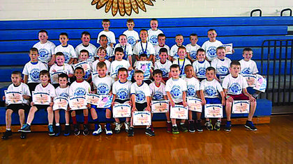 First to fourth-graders participated in Future Hawks Basketball Camp.