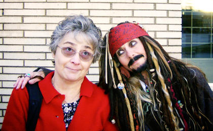 Captain Jack Sparrow and Linda Ireland
