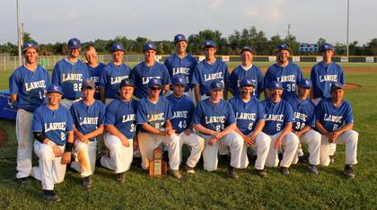 The Hawks pose with their District Championship trophy.
