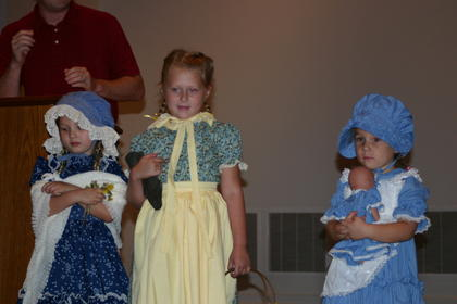 Contestants in the Little Sarah contest, ages 3-6, were from left, Kaley Ann Parrish, Cammie Allen and Kandace England.