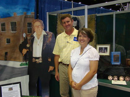 Jeremy and Joanna Hinton stopped by the State Fair Chamber Booth.