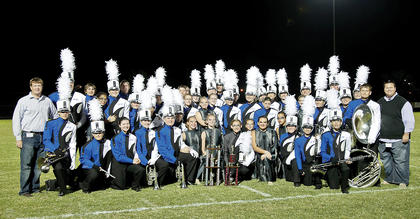 The LaRue County High School Band of Hawks took grand champion in the Taylor County Marching Invitational.