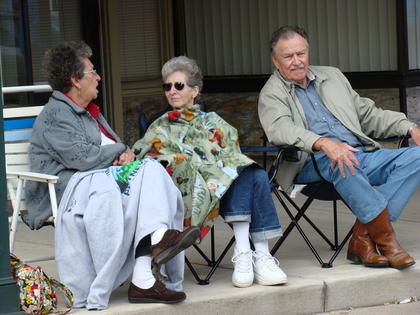 Mary Poteet, Wanda Poteet, and John Poteet came prepared for the