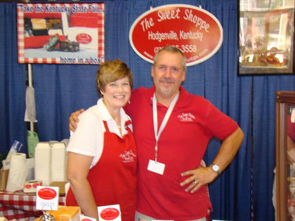 Paula and Patrick Durham brought their Sweet Shoppe treats to the State Fair.