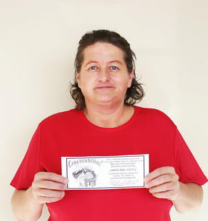 Sally McStoots, Hodgenville (certificate picked up by daughter, Jeanette McStoots) – Laha's Red Castle
