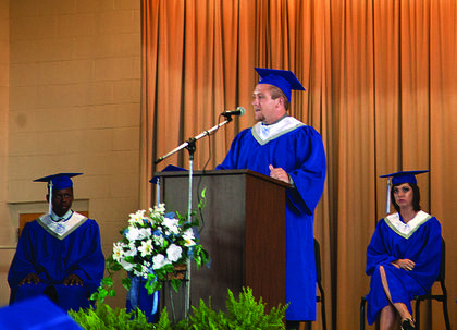 LaRue County High School senior Cole Hughes, an aspiring minister, delivered the message at Baccalaureate Sunday.