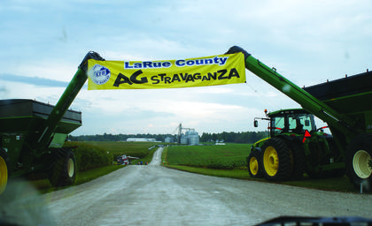 A large AGstravaganza banner welcomed visitors to Fresh Start Farms.