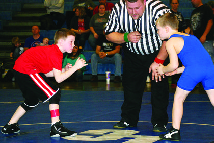 Chase Ireland, left, and Jake Heady faced off in Friday's match.