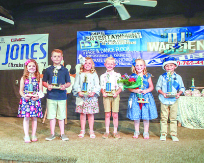 The 2018 Little Miss and Master winners are pictured from left: Alice Grace Russel – 2nd Runner Up – parent: Amy Underwood; Logan Carter Russel – 2nd Runner Up - parent: Amy Underwood; Payton Willian, 6, of Hodgenville – 1st Runner Up - Parents: Brience Willian and Alisha Willian; Braxton Thomas Brooks, 5, of Buffalo – 1st Runner Up - parents: Nick and Deidre Brooks; Addilyn Grace Roberts, 7, of Hodgenville – winner - parents: Ben and Angela Roberts and Cooper Traxler, 6, of New Haven – winner- parents: Curt Traxler and Victoria Thompson.