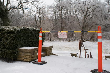 Limited access at Abraham Lincoln Birthplace National Historic Park.