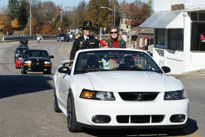 Jonathan Carl and family were grand marshals in the parade.