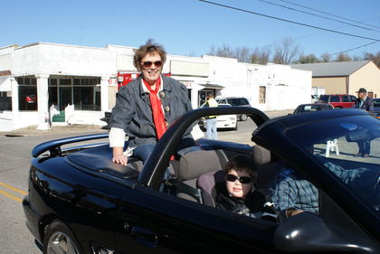 Ramona Coffey, one of the parade's organizers, rode in the parade.