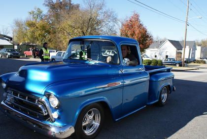 Terry Taylor spent three hours shining his vintage pickup for the parade.