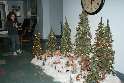 Jennifer Newton, 11, took pictures of a holiday display at Hodgenville City Hall.