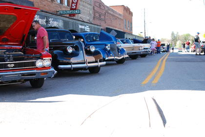 Cars lined Lincoln Boulevard as the square ran out of room for all the cars showing at the Good Time Cruisers car cruise. Saturday's cruise exceeded 150 particapants.