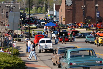 The Square was filled with classic cars and trucks from all generations and from surrounding counties at the Good Time Cruisers car cruise Saturday afternoon.