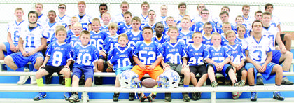 a large group of future Hawks attended Football Skills Camp.