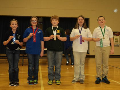 Language Arts Assessment – First, Lydia Newton, Foster Heights; second, Adara Dobson, ALES; third, Alex Riggs, Boston; fourth, Brianna McCauley-Posey, HES; fifth, Tripp Chapman, HES.