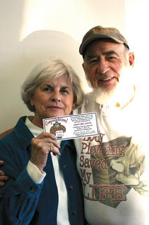 Wanda and Harold West, winners from Laha's
