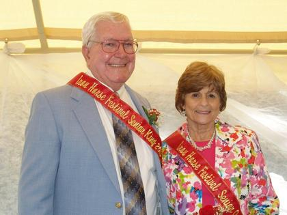 Rolling Fork Iron Horse Festival Senior King and Queen Harold and Edna Rose Metcalfe