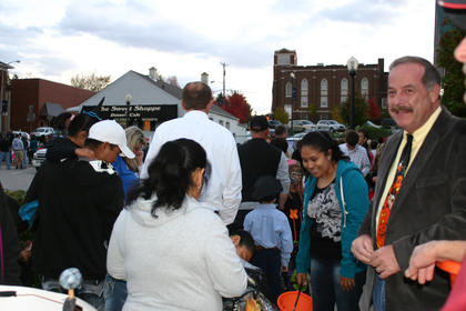 Mayor Terry Cruse handed out candy.