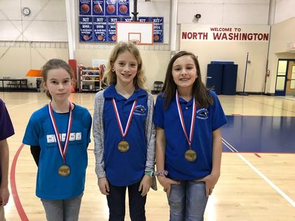 Math- Isabella Day-1st; Morgan Skaggs- 3rd; Ella Tucker- 4th