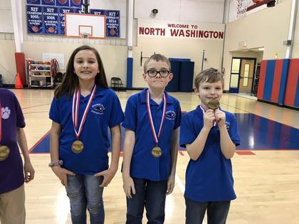 Science- Ella Tucker-2nd; Sean Burks- 4th; Richard Marshall- 3rd