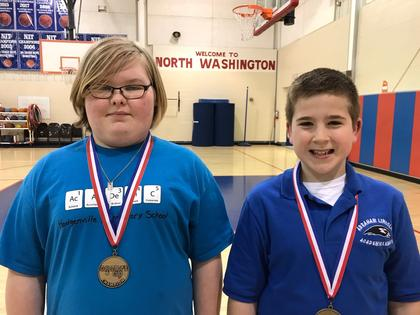 Social studies- Brooklyn Lyvers- 3rd; Adam Reding- 4th