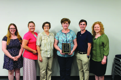 The LaRue County Public Library was chosen as recipients of the 2018 Spirit Award. Receiving the honor was Ryann Chelf, Sarah Graff, Lisa Williams, Dana Jolly, Andrew Coy, and Charlotte Zirkle.