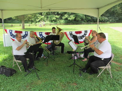 The Heartland Brass Band performed at the Centennial Celebration.