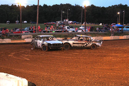 T-bone collision during the Demolition Derby on Friday night.