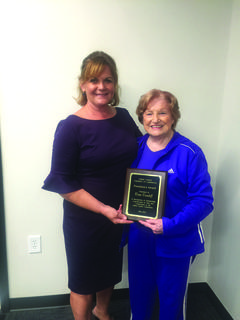 2017-18 Chamber President Patty Holbert presented Nina Cundiff with the President's Award for her years of service and dedication to the Chamber and the inspiration and love she has shown Holbert during her tenure as President of the Chamber of Commerce.