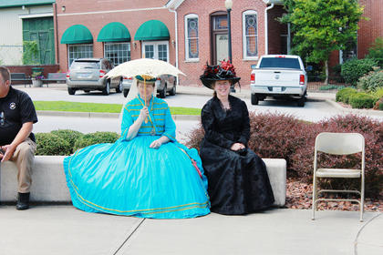 Mary Todd Lincoln as portrayed by Joan Howard and Edith Roosevelt as portrayed by Maggie Lindquist.