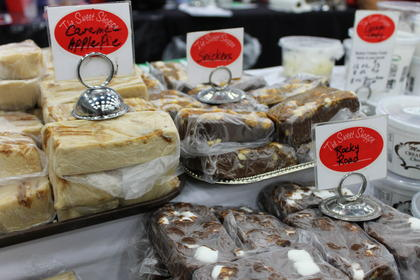 he Sweet Shoppe provided a large variety of choices for fudge lovers at the year's State Fair.
