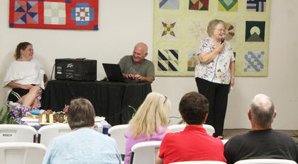 Carolyn Smith took to the stage for a bit of Karaoke on Senior Citizen Day on August 1.