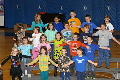 Marsha Price's second-grade class performed in Hodgenville Elementary School's Christmas play. Front from left, Mallory Williams, Haley Emerich, Austin Pellman, Dylan O'Bannon; second row, Makayla Pearman, Faith Grimes, Blakyn James, Trenton Hall, Aiden Hawkins; third row, Carris Ford, Courtney Fitts, Emma Carter, Johnathon Foster, Gunner Gustafson, Blake Jackson; back, Lexi Switzer, Leticia Salazar, Chase Ireland, Jake Jones and Wesley Kennedy.