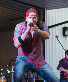 J.D. Shelburne interacted with the crowd at Saturday's AGstravaganza. Shelburne performed a finale concert for the LaRue County Farm Bureau event.