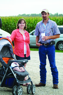 Joe and Fawn Stults brought their son, Tate, to his first AGstravaganza event.