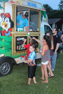 Kona Ice was on the scene to help keep attendees cool.