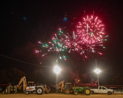The fair ended with fireworks on Saturday, June 9