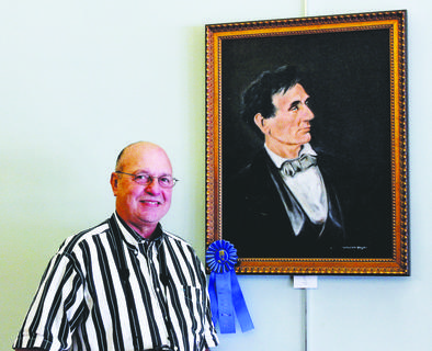 William Frye's oil painting piece titled, 'Abe' took first place in the Lincoln Division.