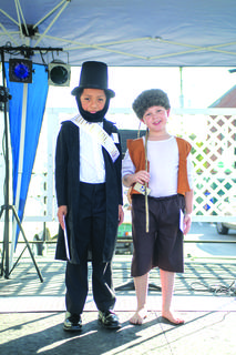 The winners of the Little Abe contest are pictured from left Colby Penning (first place) and Caden Dale Hack (second place).