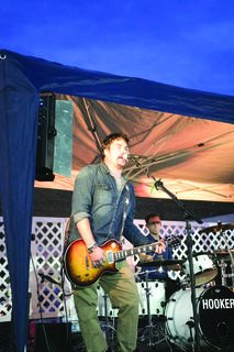 "LaRue County Attorney Kyle Williamson and his band ""Hooker"" performed during this year's Lincoln Days."